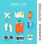 collection of travel layers | Shutterstock .eps vector #1076572022