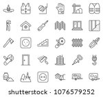 thin line icon set  ... | Shutterstock .eps vector #1076579252