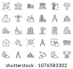thin line icon set   bank... | Shutterstock .eps vector #1076583302