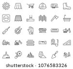 thin line icon set   office... | Shutterstock .eps vector #1076583326