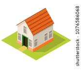 small house isometric view ...   Shutterstock .eps vector #1076586068
