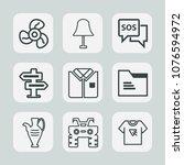 premium set of outline icons....   Shutterstock .eps vector #1076594972