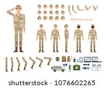 soldier in military clothing... | Shutterstock .eps vector #1076602265