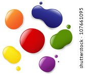 6 color blobs  isolated on... | Shutterstock . vector #107661095