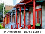 A Row Colourful Wooden Porches - Fine Art prints