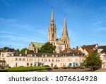 chartres  france   may 21  2017 ... | Shutterstock . vector #1076614928