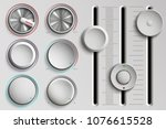 vector set of buttons and... | Shutterstock .eps vector #1076615528