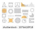 geometric shapes set isolated... | Shutterstock .eps vector #1076618918