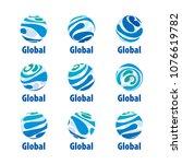 vector logo globe | Shutterstock .eps vector #1076619782