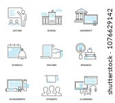 education and learning vector... | Shutterstock .eps vector #1076629142