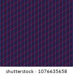 isometric grid. vector seamless ... | Shutterstock .eps vector #1076635658