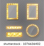 makeup mirror isolated with... | Shutterstock .eps vector #1076636402