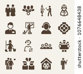 people filled vector icon set... | Shutterstock .eps vector #1076648438