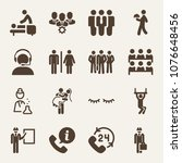 people filled vector icon set... | Shutterstock .eps vector #1076648456