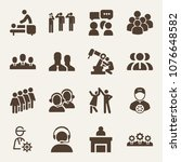 people filled vector icon set... | Shutterstock .eps vector #1076648582