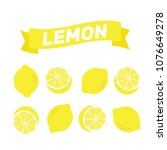 lemon pattern illustration... | Shutterstock .eps vector #1076649278