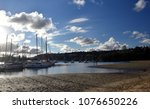 many moored yachts and boats in ... | Shutterstock . vector #1076650226