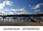 many moored yachts and boats in ... | Shutterstock . vector #1076650232