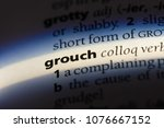 Small photo of grouch grouch concept.