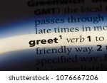 Small photo of greet greet concept.
