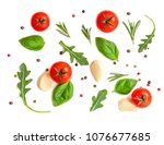 seamless pattern with fresh... | Shutterstock . vector #1076677685