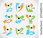 logo person modern design... | Shutterstock .eps vector #1076685176