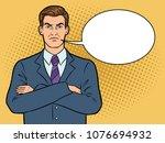 angry serious boss businessman...   Shutterstock .eps vector #1076694932