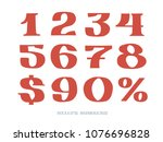 set of isolated hand lettered... | Shutterstock .eps vector #1076696828