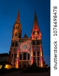 chartres  france   may 21  2017 ... | Shutterstock . vector #1076698478