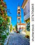 bozcaada streets view. bozcaada ... | Shutterstock . vector #1076706845