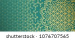 beautiful gold pattern with... | Shutterstock .eps vector #1076707565