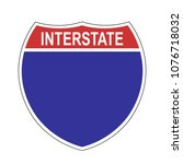 american interstate blank... | Shutterstock .eps vector #1076718032