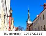 view of tallinn's old town...   Shutterstock . vector #1076721818