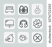premium set of outline icons.... | Shutterstock .eps vector #1076722202