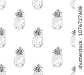 hand drawn seamless pattern.... | Shutterstock .eps vector #1076727608