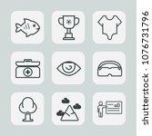 Premium Set Of Outline Icons....