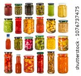 big set of tinned preserved... | Shutterstock . vector #1076737475