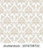beautiful damask pattern. royal ... | Shutterstock . vector #1076738732