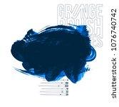 blue brush stroke and texture.... | Shutterstock .eps vector #1076740742