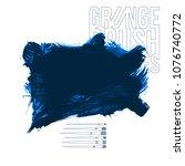 blue brush stroke and texture....   Shutterstock .eps vector #1076740772