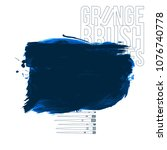 blue brush stroke and texture....   Shutterstock .eps vector #1076740778