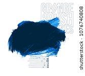 blue brush stroke and texture.... | Shutterstock .eps vector #1076740808