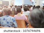 soft focus at old people in the ... | Shutterstock . vector #1076744696