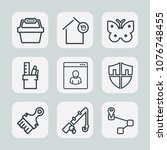 premium set of outline icons....   Shutterstock .eps vector #1076748455