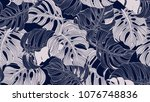 floral seamless pattern  blue... | Shutterstock .eps vector #1076748836