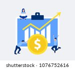 profit or financial growth... | Shutterstock .eps vector #1076752616