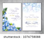 set of templates for greetings... | Shutterstock . vector #1076758088