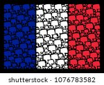 france state flag composition... | Shutterstock .eps vector #1076783582