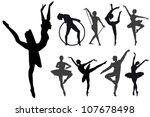 ballet steps and exercises | Shutterstock .eps vector #107678498