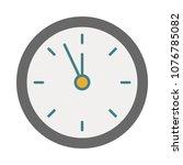 time piece clock  | Shutterstock .eps vector #1076785082